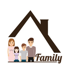 Family house poster vector
