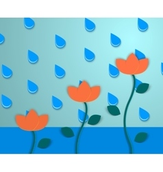 Flowers and the rain 2 vector