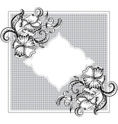 Frame with hand-drawing graphic ornament vector image