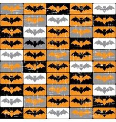 Halloween Bat Pattern vector image vector image