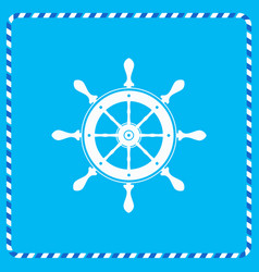 icon helm of the marine flat vector image vector image