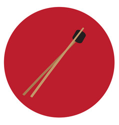 Isolated wooden chopsticks vector