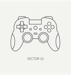 Line flat computer part icon joystick vector