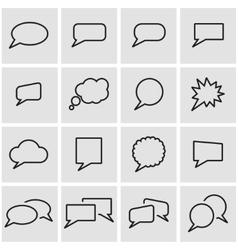 line speach bubbles icon set vector image vector image