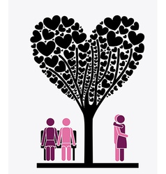 Love tree desing vector