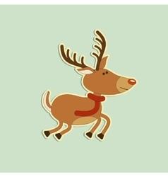 Merry christmas deer vector