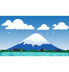 mountain snow vector image vector image
