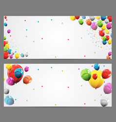 Party background baner and balloons vector