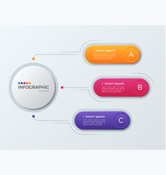 presentation business infographic template with 3 vector image vector image
