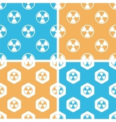 Radiohazard pattern set colored vector