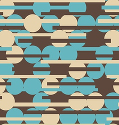 retro circle seamless texture vector image vector image