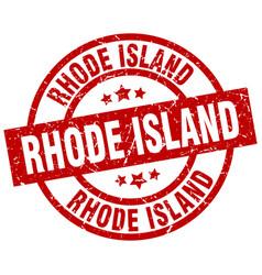 rhode island red round grunge stamp vector image vector image