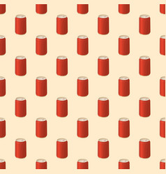 seamless pattern with soda in a tin vector image