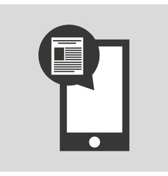 Smartphone app file social media icon vector