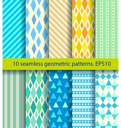 ten seamless pattern vector image