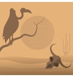 Wild West desert vector image vector image
