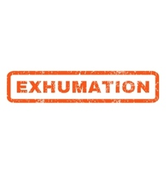 Exhumation rubber stamp vector