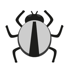 Isolated bug design vector