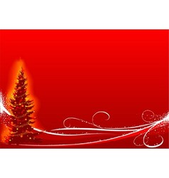 Red christmas and white floral vector