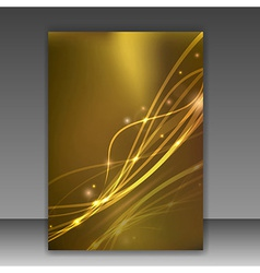 Glittering folder template - sparkling vector