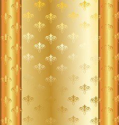 Golden frame with golden decorations vector