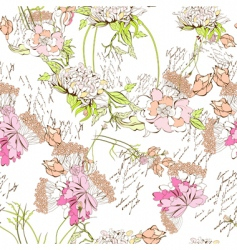 Spring seamless wallpaper vector