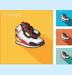 Icons with sneakers vector
