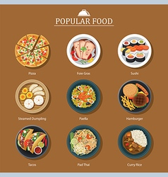 Set of popular food vector