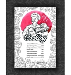 Cooking cuisine Design menu restaurant or cafe vector image