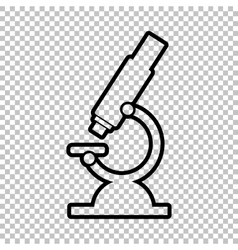 Microscope sign line icon vector