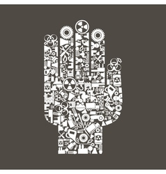 Hand the industry vector image