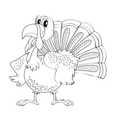 animal outline for turkey vector image vector image