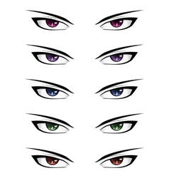 Anime male eyes2 vector image vector image