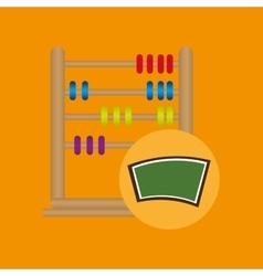 Blackboard school icon abacus vector