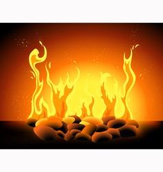 Blazing flame vector