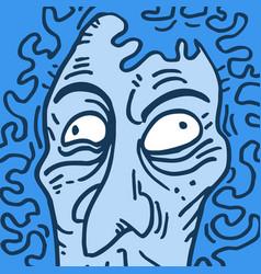 Blue hair man vector