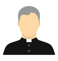Catholic priest icon flat style vector