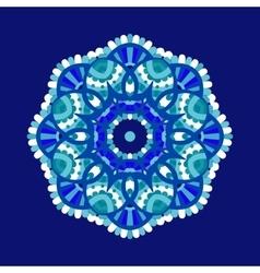 Cold floral mandala vector