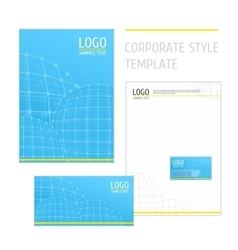 Corporate style template grid blue vector