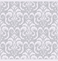 damask seamless pattern background classical vector image vector image