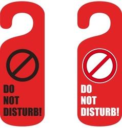 Do not disturb door hanger vector