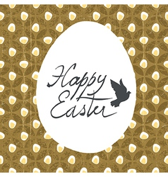 easter card design diamond pattern vector image