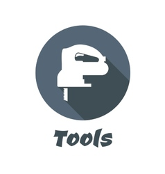 Flat electric fretsaw with long shadow vector image