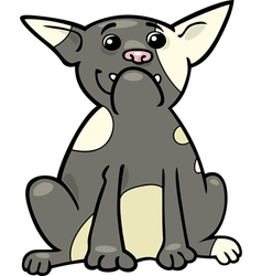 french bulldog cartoon vector image