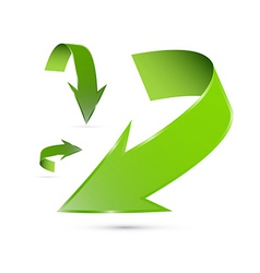 Green Abstract Arrows Set vector image vector image