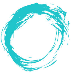 green brush stroke circular shape vector image
