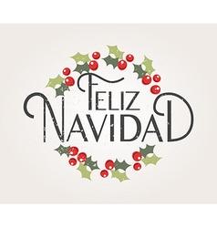 Hand sketched feliz navidad happy new year in vector