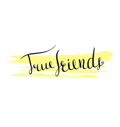 Handwritten lettering true friends icon vector