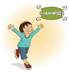 happy little boy who runs vector image vector image