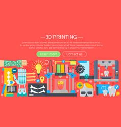 human organs 3d printer technology flat concept vector image